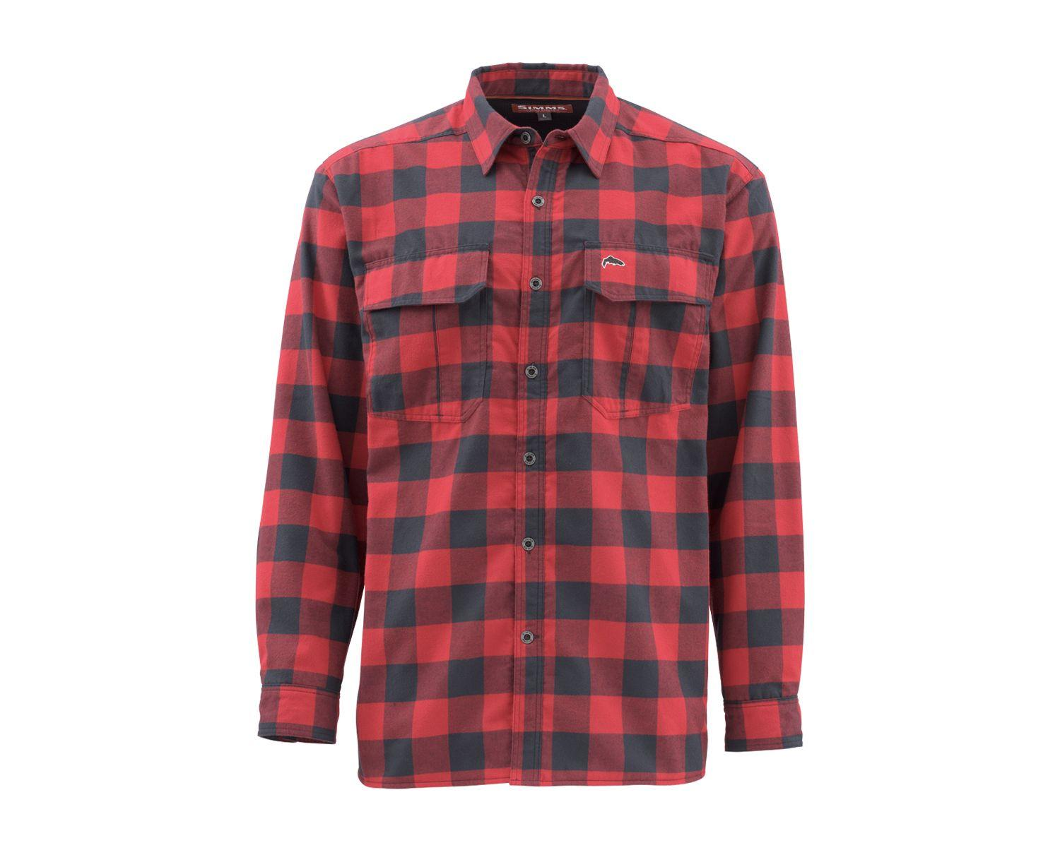Simms ColdWeather Long Sleeve Shirt - Red Buffalo Plaid_1.jpg