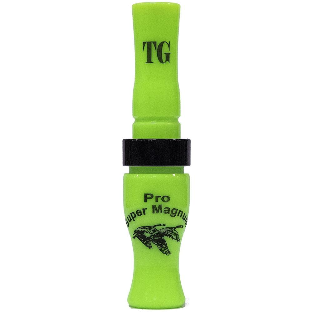 Tim Grounds Pro Super Mag Goose Call, Lime with black band