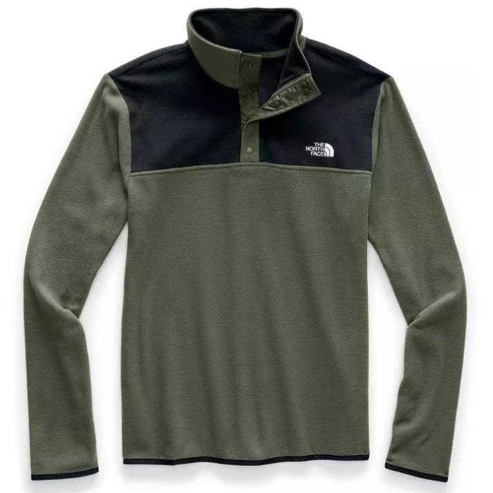North Face Men's TKA Glacier Snap Pullover - New Taupe Green