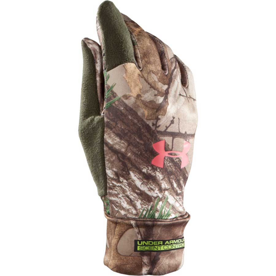 Under Armour Scent Control Women's Hunting Glove, Realtree AP-Xtra