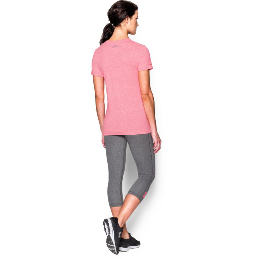 Under Armour Charged Cotton® Tri-Blend - Antler Women's Hunting Short Sleeve T-Shirt, Harmony Red_1.jpg