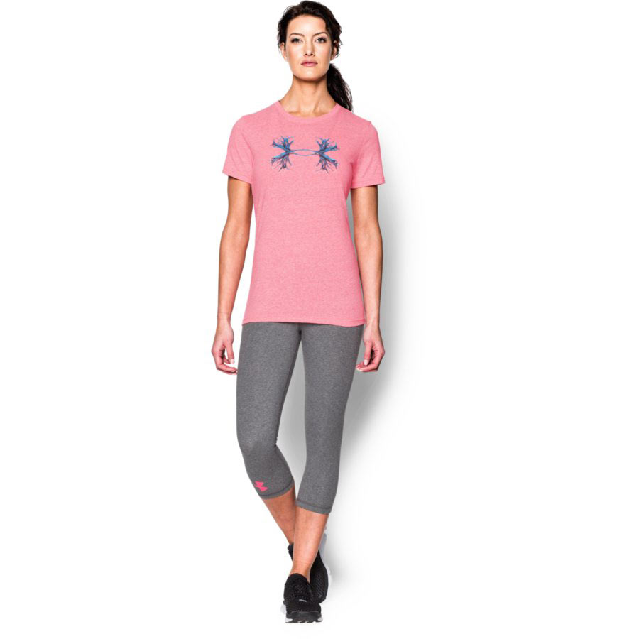 Under Armour Charged Cotton® Tri-Blend - Antler Women's Hunting Short Sleeve T-Shirt, Harmony Red_2.jpg