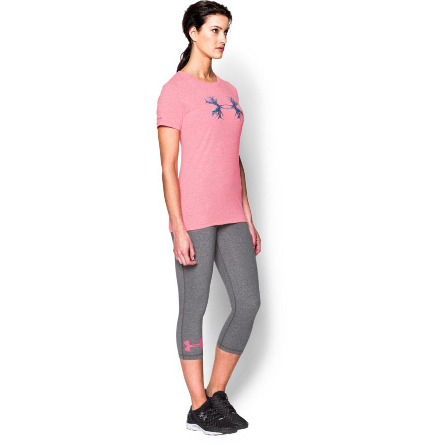 Under Armour Charged Cotton® Tri-Blend - Antler Women's Hunting Short Sleeve T-Shirt, Harmony Red_3.jpg