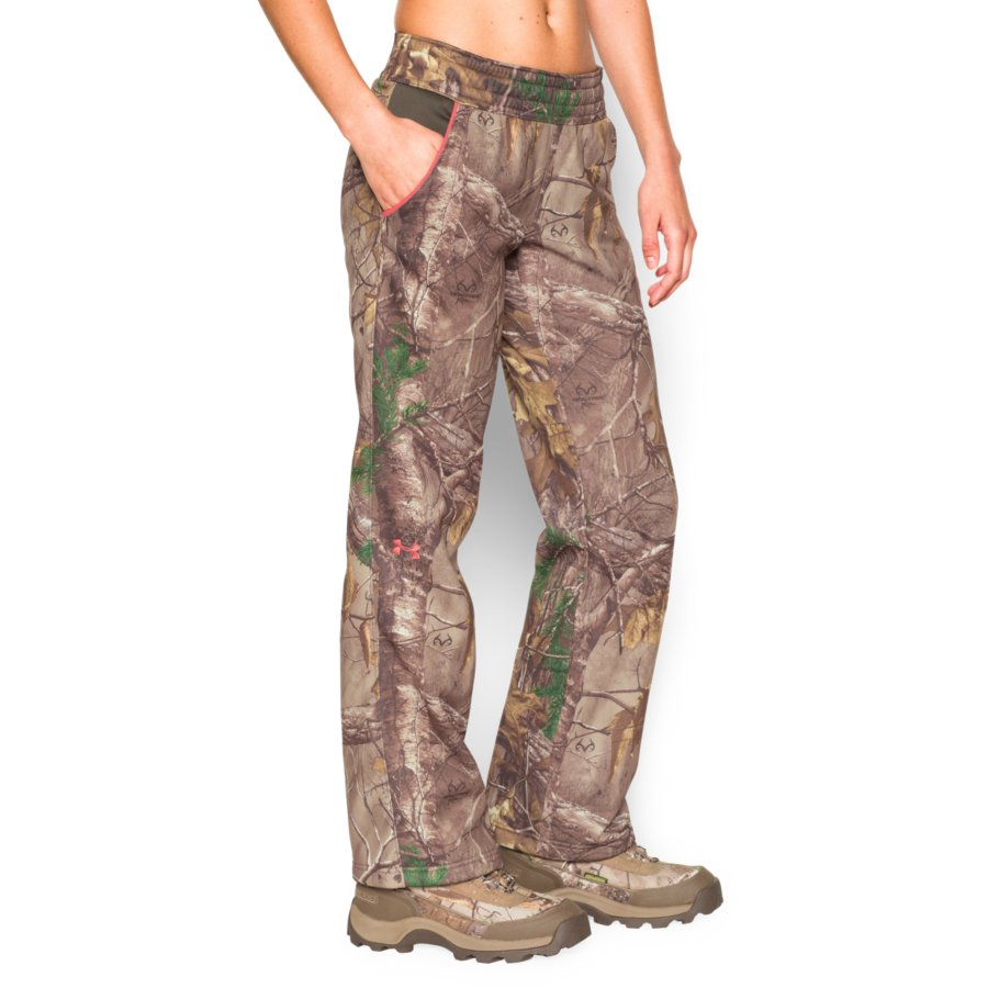 32677ef0d3666 Under Armour 1260161-946 Womens Camo Fleece Hunting Pants in ...