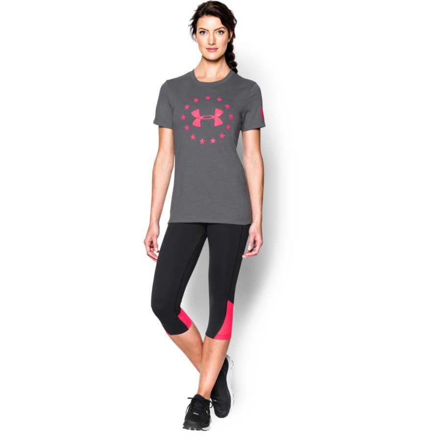 Under Armour Freedom Logo Women's Tactical Short Sleeve T-Shirt, Graphite_2.jpg