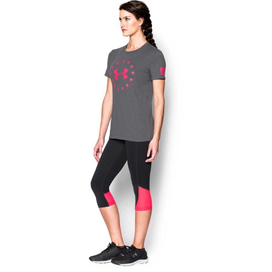 Under Armour Freedom Logo Women's Tactical Short Sleeve T-Shirt, Graphite_3.jpg