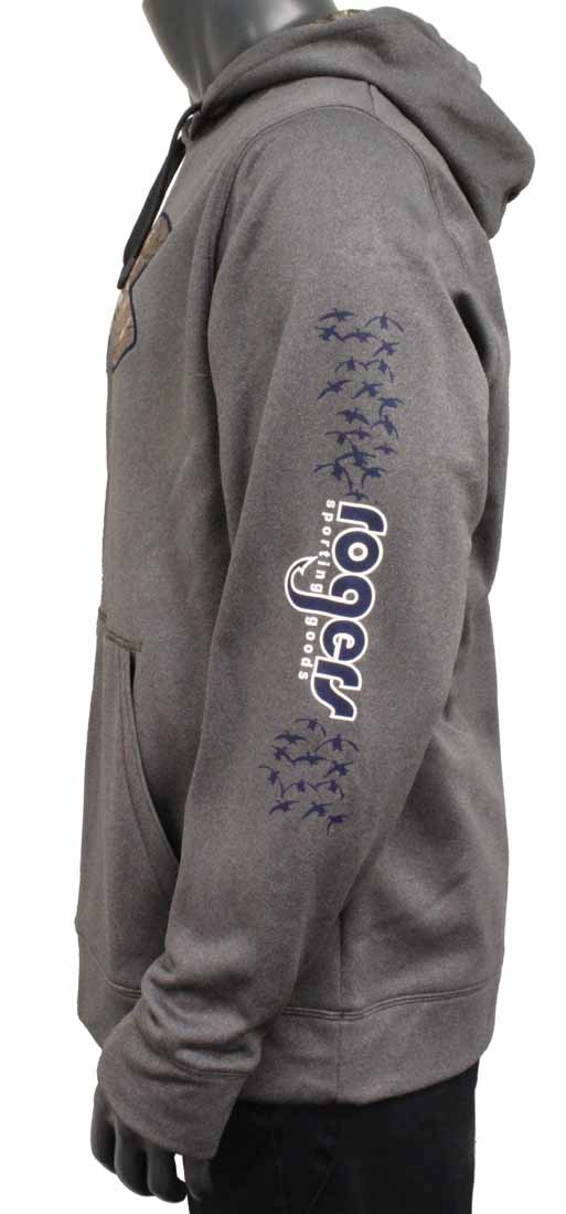 Men's UA Storm Caliber Hoodie Carbon Heather- Rogers Sleeve