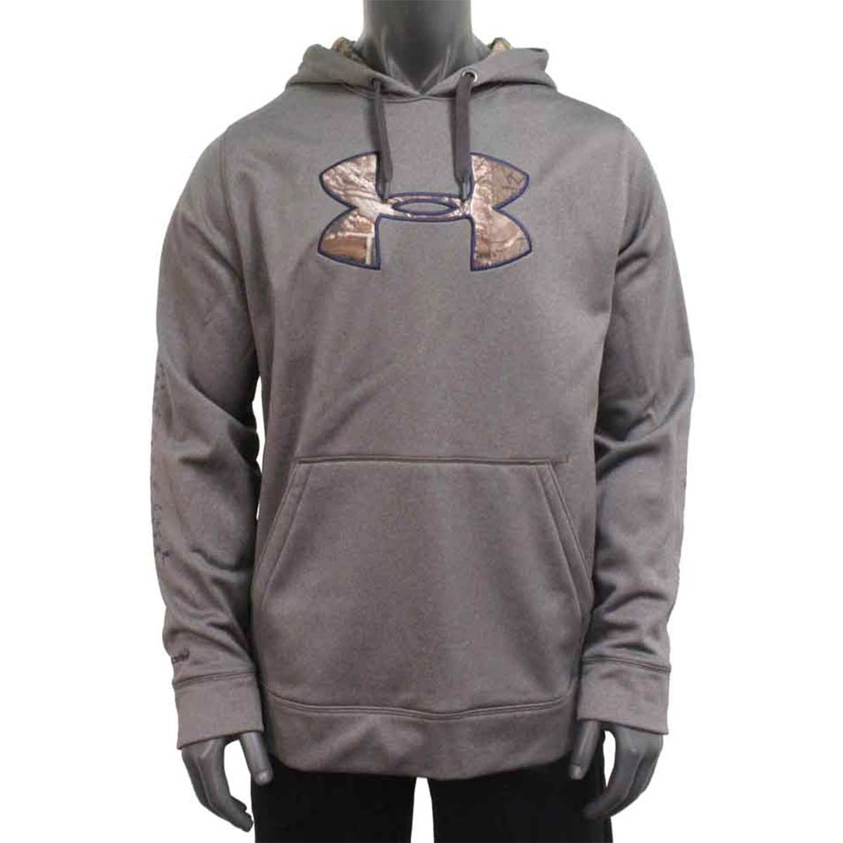 Under Armour Storm Caliber Men's Hunting Hoodie, Carbon Heather_1.jpg