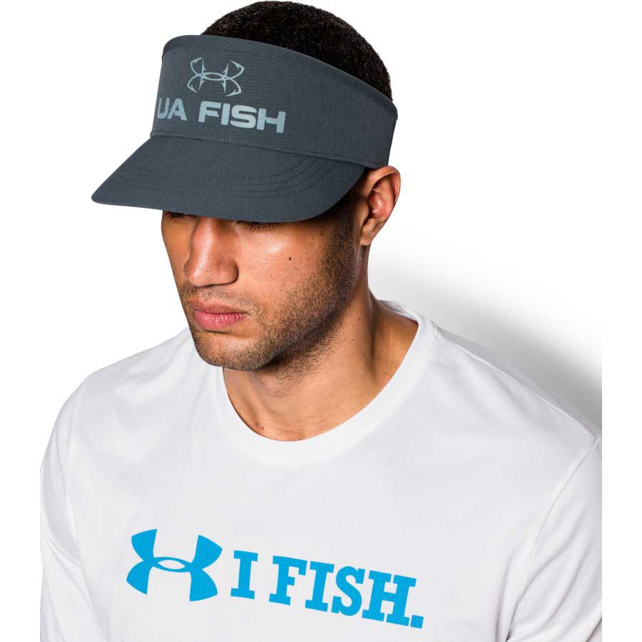 Under Armour CoolSwitch AirVent Visor Men's Fishing Headwear, Stealth Gray_3.jpg
