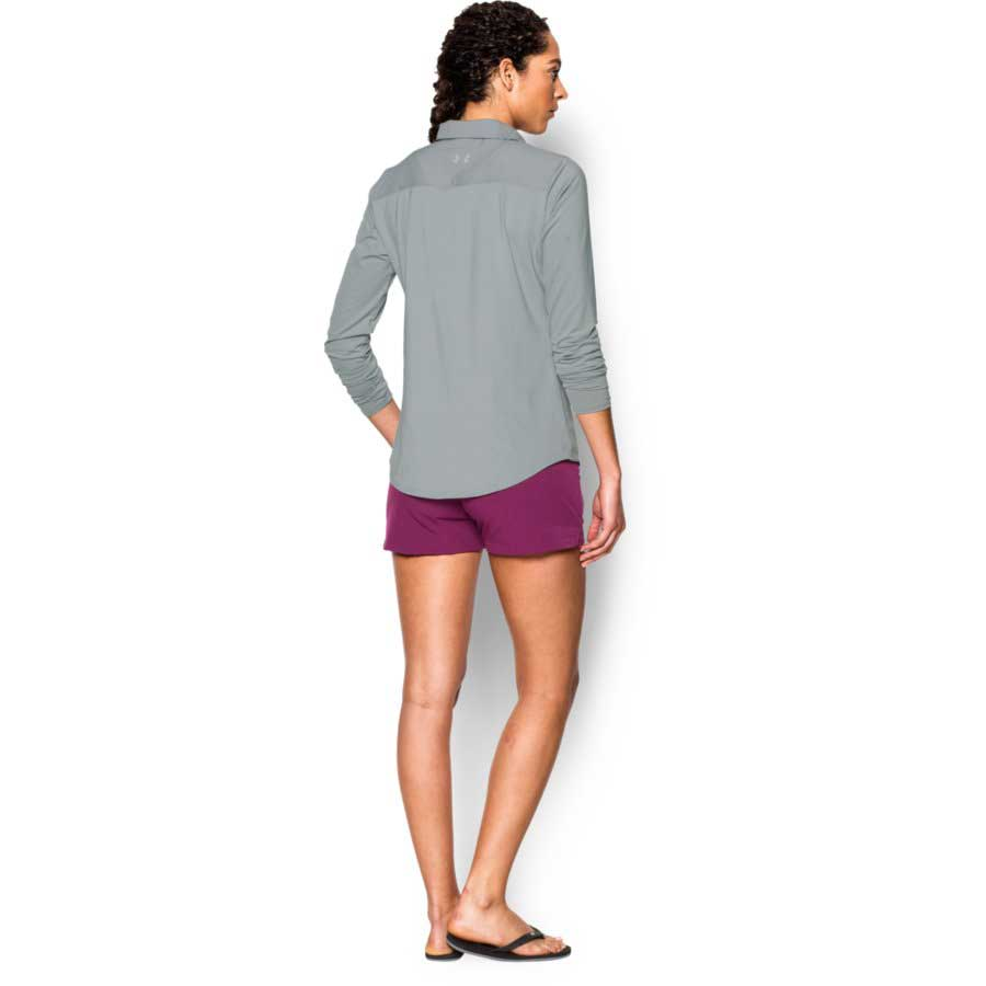 Under Armour Thermocline Amalgam Women's Long Sleeve Blouse, Amalgam Gray_2.jpg