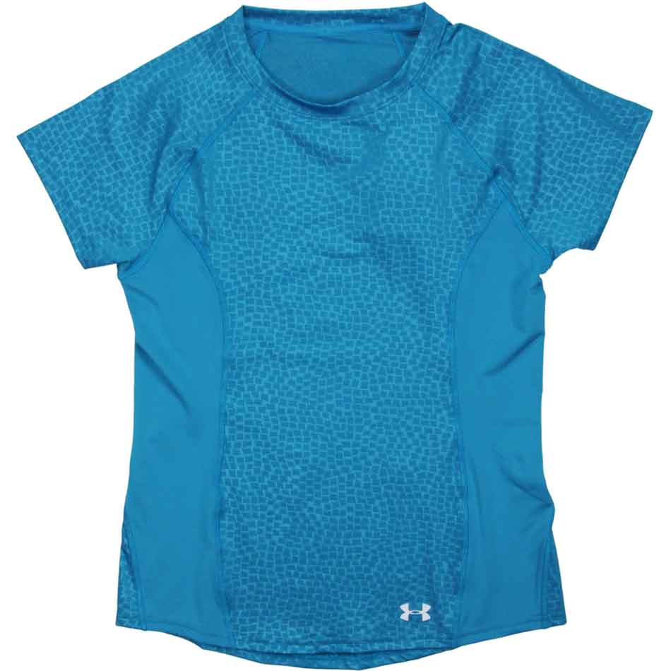 Under Armour CoolSwitch Trail Top Women's Short Sleeve Top, Aqua Blue_1.jpg