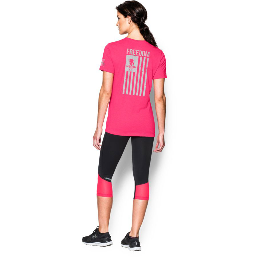 Under Armour Freedom Flag Women's Graphic T-Shirt, Harmony Red_1.jpg
