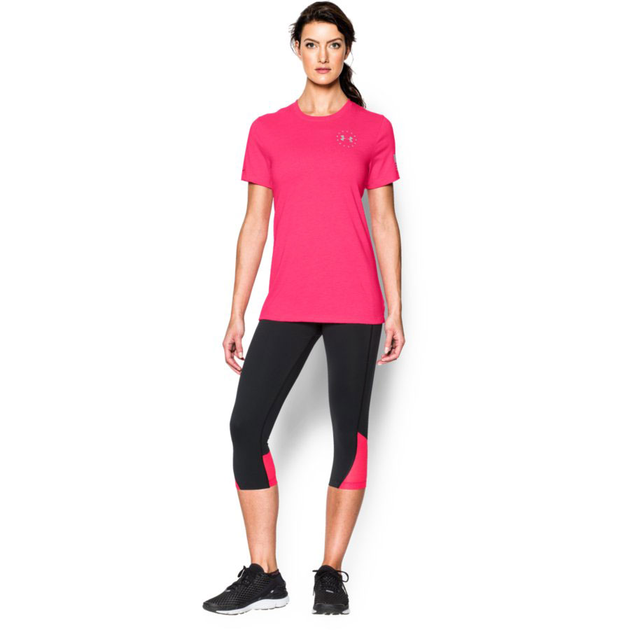 Under Armour Freedom Flag Women's Graphic T-Shirt, Harmony Red_2.jpg