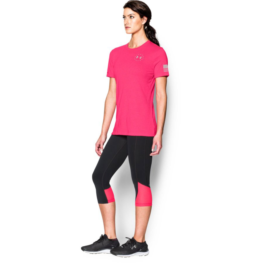 Under Armour Freedom Flag Women's Graphic T-Shirt, Harmony Red_3.jpg