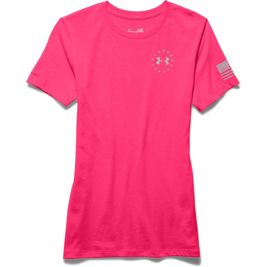 Under Armour Freedom Flag Women's Graphic T-Shirt, Harmony Red_4.jpg