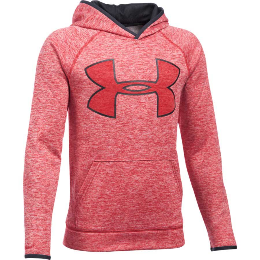Under Armour Fleece Highlight Twist Boys' Hoodie, Red/Graphite_1.jpg