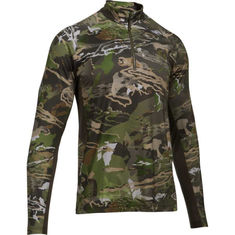 Under Armour CoolSwitch Camo ¼ Zip Men's Hunting Long Sleeve Shirt, Ridge Reaper Forest_1.jpg