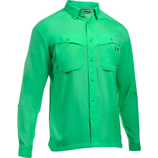 Under Armour Tide Chaser Men's Fishing Long Sleeve Shirt, Vapor Green