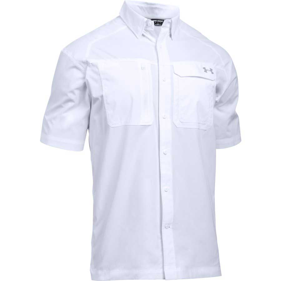 Under Armour Fish Hunter Solid Fishing Short Sleeve Shirt, White_1.jpg
