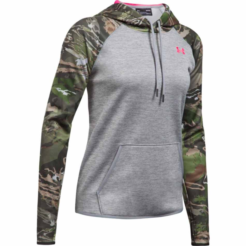 819fff2f Under Armour Womens Armour® Fleece Blocked Camo Hoodie, Grey/Ridge ...