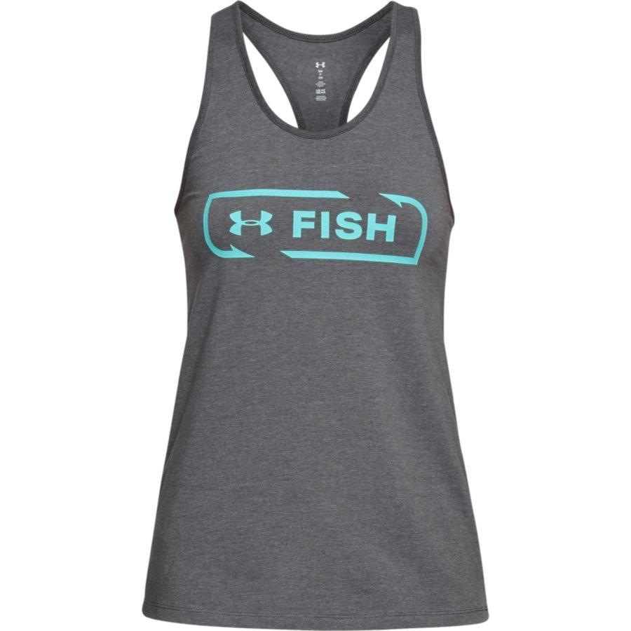 Under Armour Women's Fish Icon Graphic Tank, Graphite