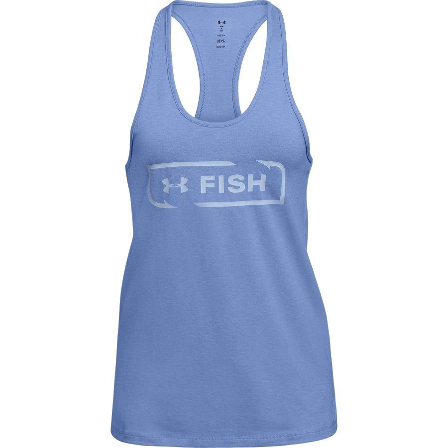 Under Armour Women's Fish Icon Graphic Tank, Talc Blue