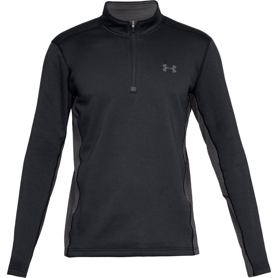 Under Armour Men's Twill Extreme Base 1/4 Zip Hunting Shirt, Black