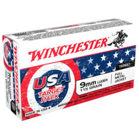 Winchester 9 MM Usa Target FMJ 115 Gr Box of 50