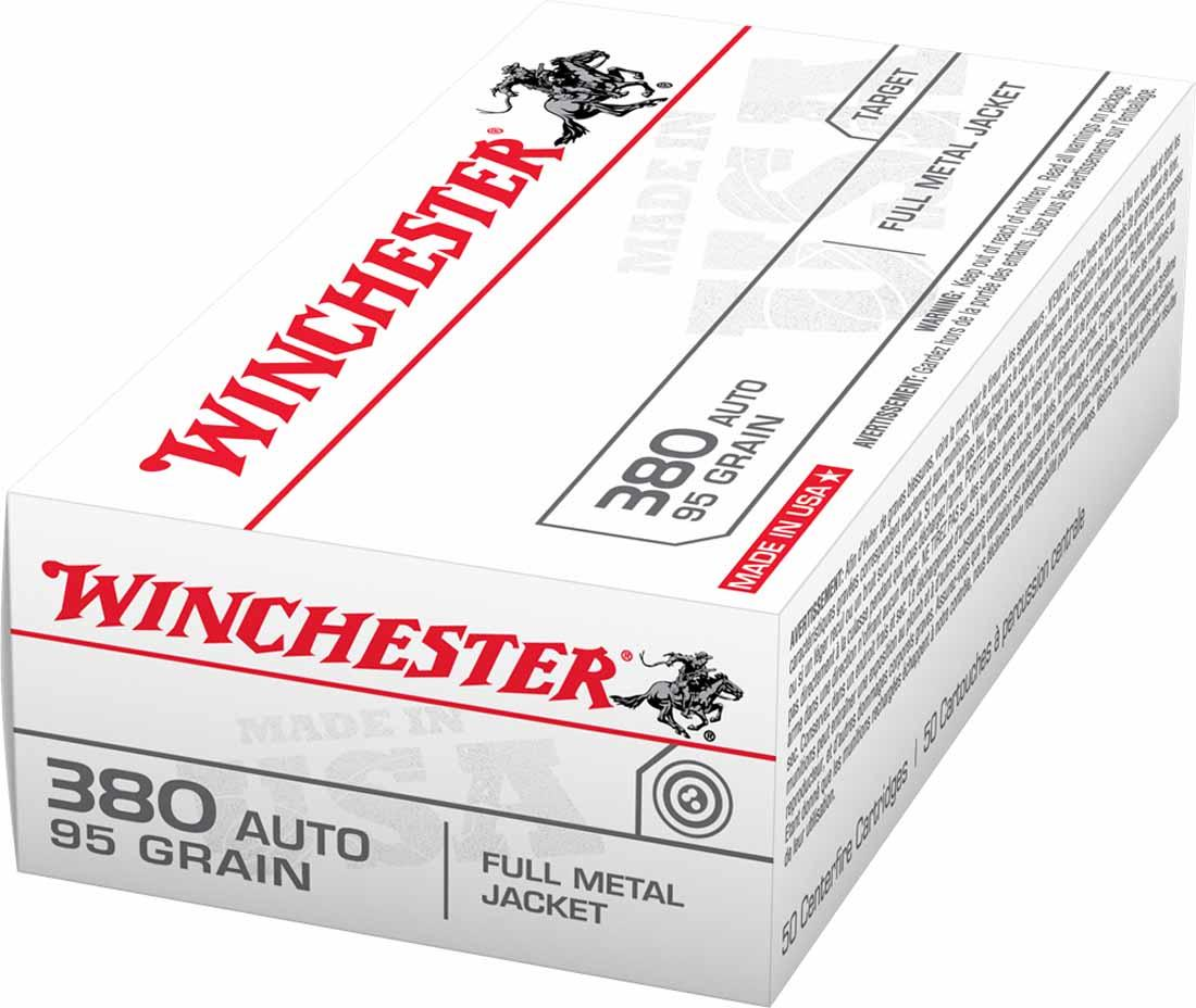 Winchester 380 Automatic 95 gr FMJ, Box of 50