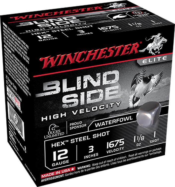 "Winchester High Velocity Blind Side, 12 GA 3"" 1 1/8OZ 1675 FPS_1.jpg"