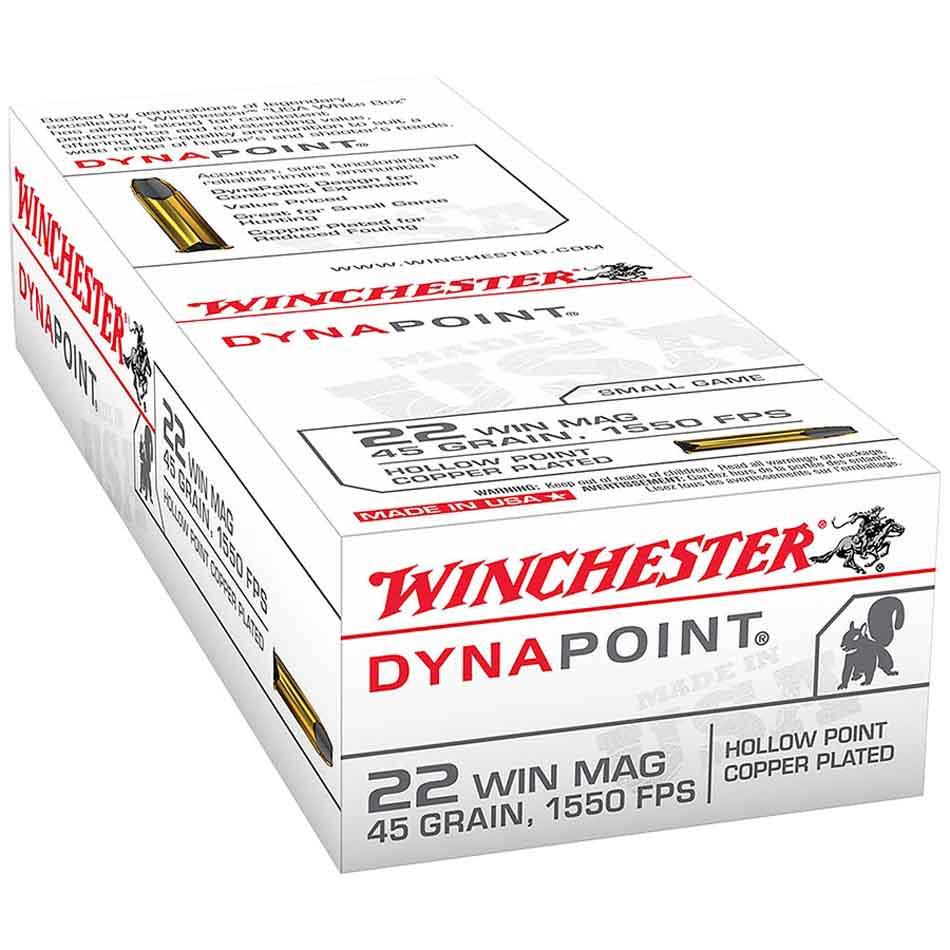 Winchester 22 Win Mag 45 gr DynaPoint, Box of 50