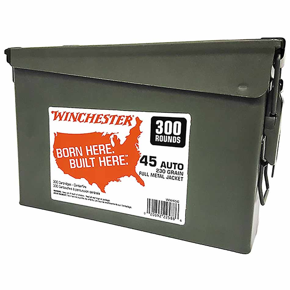 Winchester 45 ACP 230 gr FMJ Can, 300 Round (WW45C)