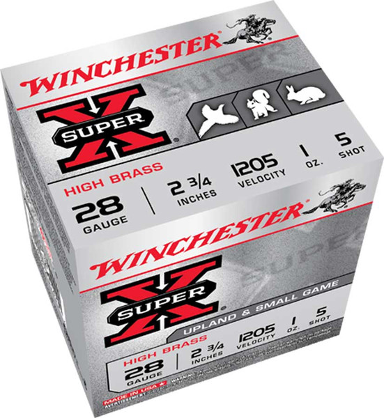"""Winchester X28H SuperX Upland and Small Game High Brass 28 GA, 2 3/4"""" 1205FPS 1 oz shot"""