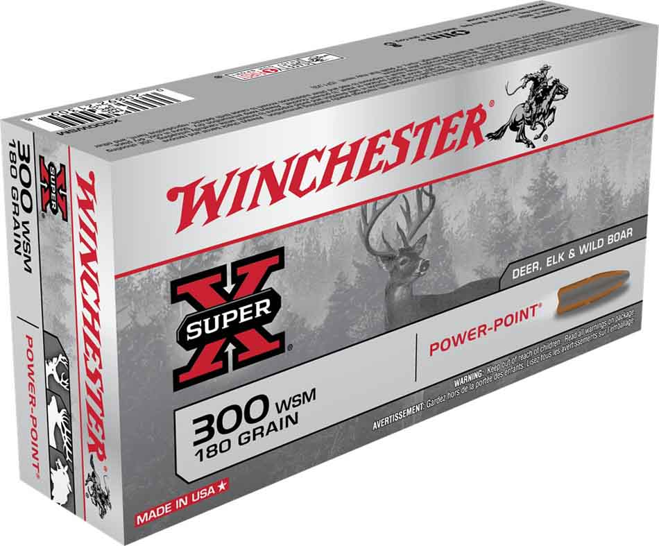 Winchester Super X 300 WSM, 180 Gr Power-Point, Box of 20