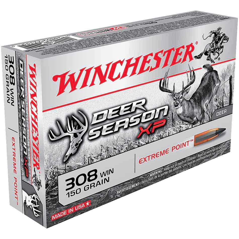 Winchester 308 Win 150 gr Extreme Point Deer Season XP, Box of 20