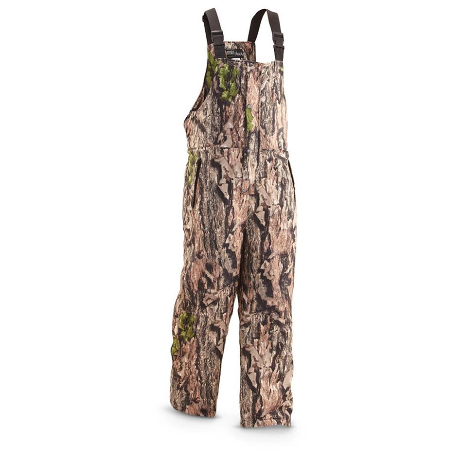 World Famous Sports Waterfowl Camo Insulated Waterproof Breathable Bib in North Woods Camo