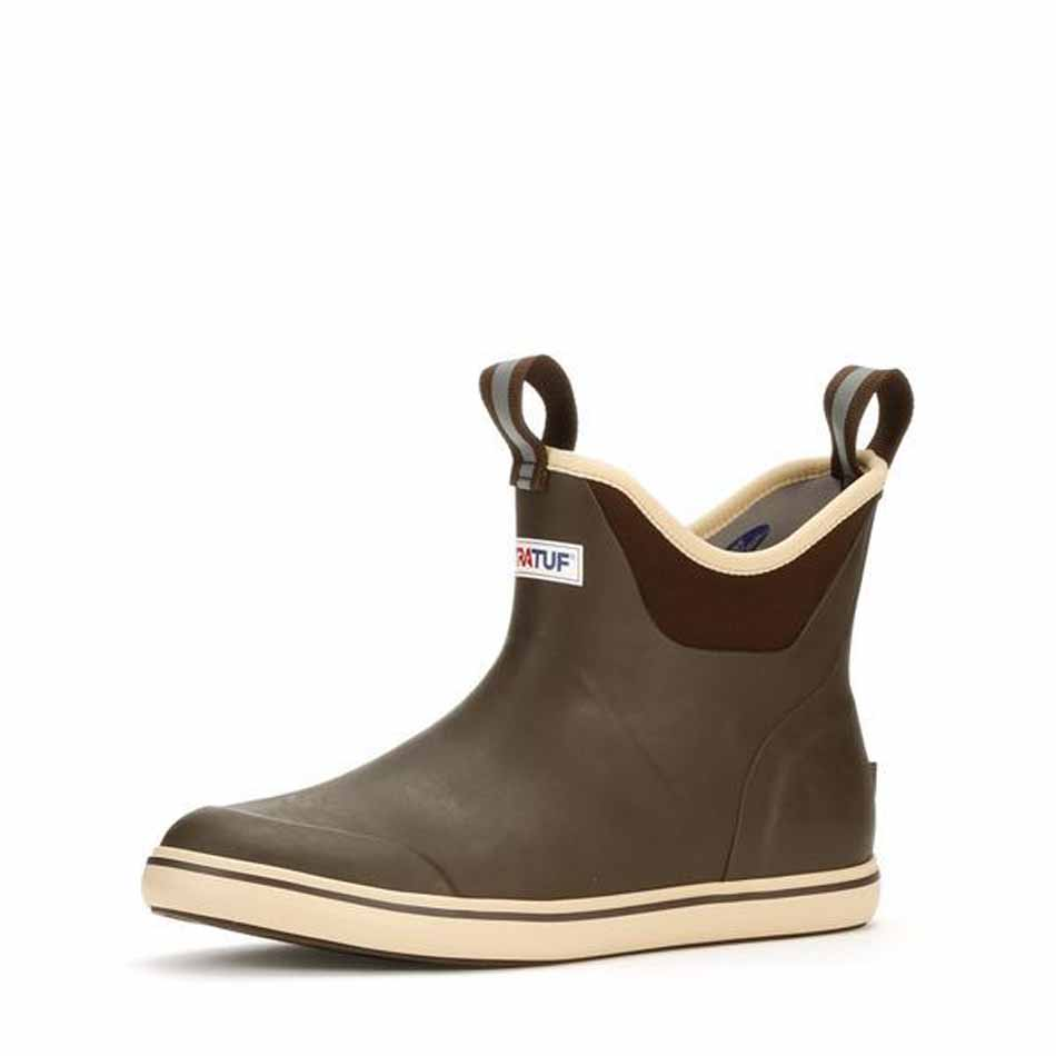"Xtratuf 6"" Deck Boot Ankle, Chocolate/Tan"