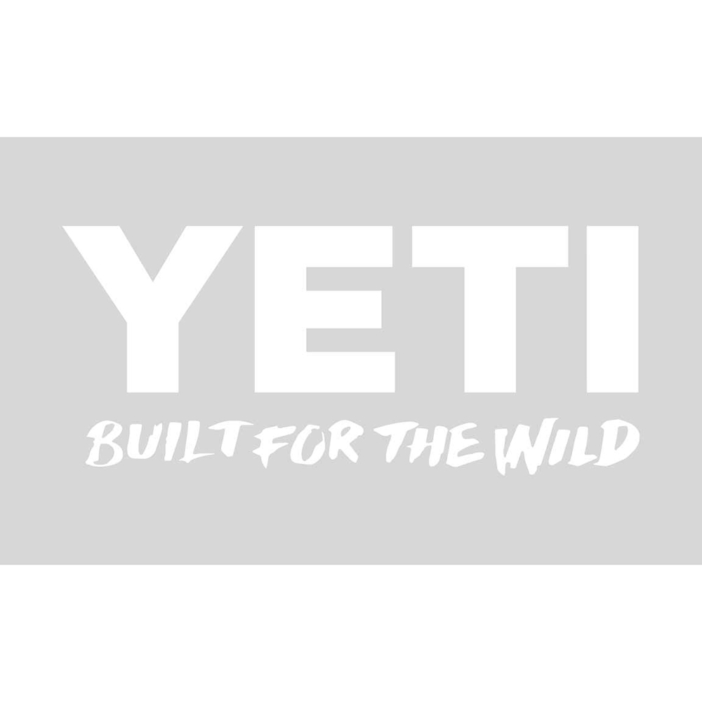 Yeti Built for the Wild Window Decal, White