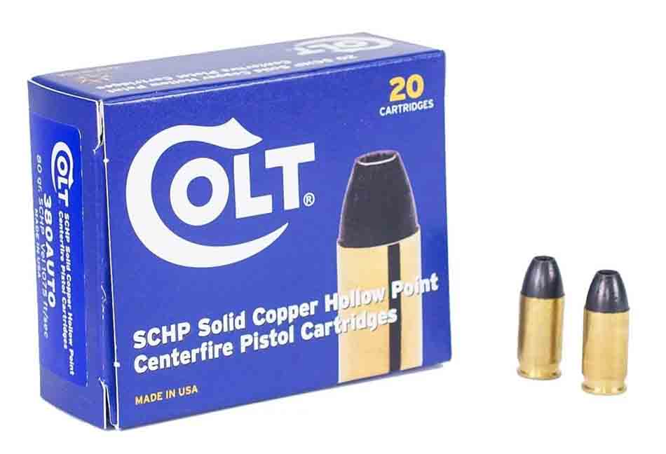 Colt .380 ACP 80 gr (SCHP) Solid Copper Hollow Point