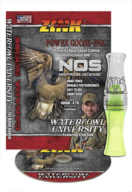 Zink Polycarb Lemon Drop Nightmare on Stage (NOS) Canada Goose Call with DVD_1.jpg