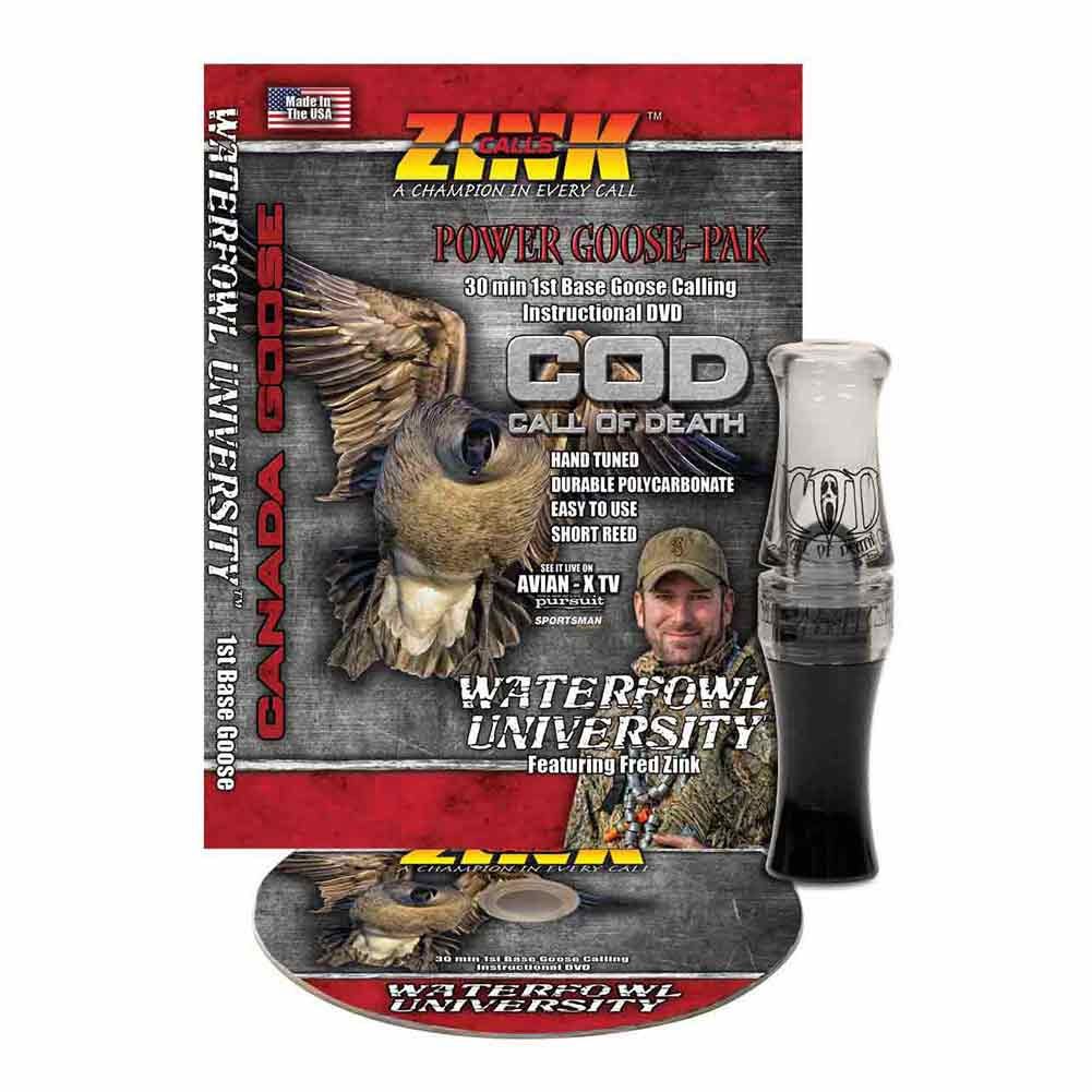 Zink Calls Gunsmoke Polycarbonate Call of Death (COD) Goose Call with DVD_1.jpg