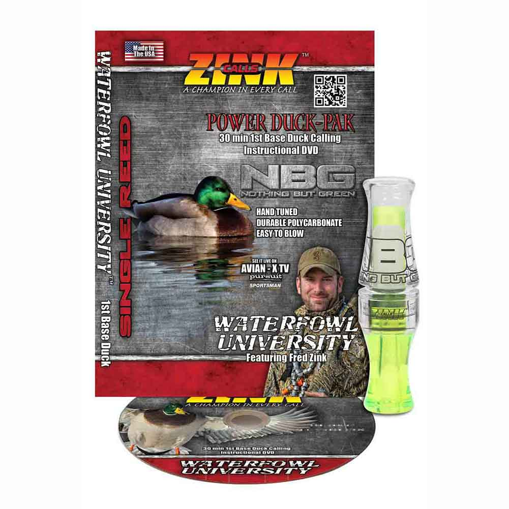 Zink Polycarbonate Nothing But Green Duck Call, Lemon Drop, with DVD