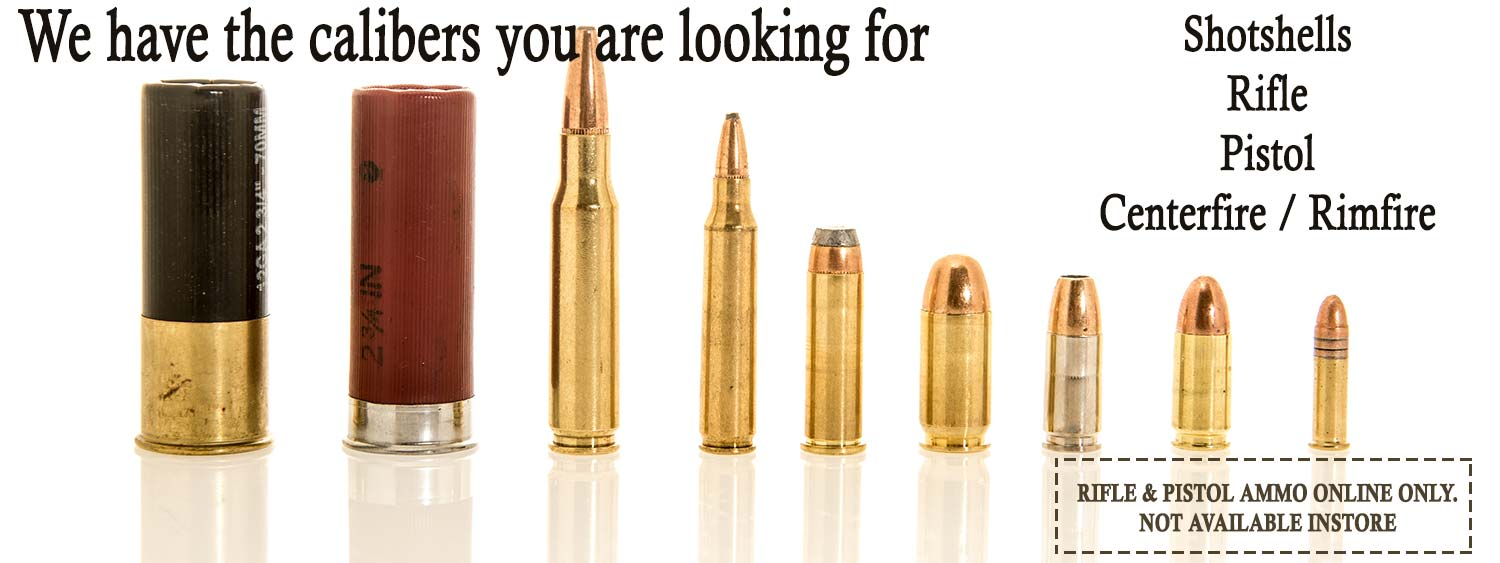 All calibers of ammunition